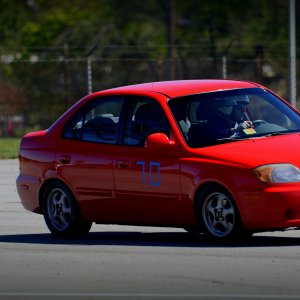Autocrossing the Accent